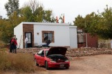 """Eco Casas, such as the one featured here, are built with special """"confib"""" bricks made from an innovative formula consisting of sand, cement and recycled paper. These bricks pass the same fire retardant tests as regular cinder-blocks and are very efficient in regulating hot and cold temperatures. (Photo by Christa Reynolds)"""