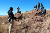 Students were surprised to learn that jaguars have been sighted in Coronado National Forest. Sergio Avila, (standing) spoke about his experiences studying mammals living in the park and his work in the Sonoran region. (Photo by Christa Reynolds)